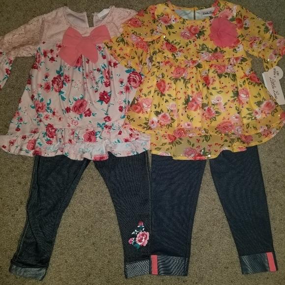 Little Lass Other - Little Lass floral outfits 18-24m